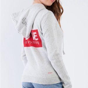 FINAL💵NWT Peace Love World full zip Love hoodie S